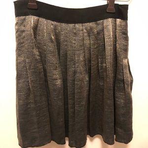 MADEWELL metallic Pleated Skirt size XS